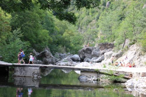 Baignade en Ardèche  La Glueyre - Vacances