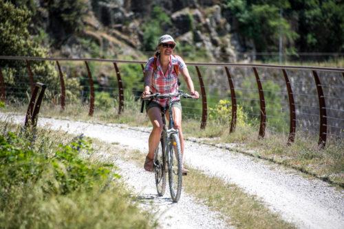 Voie douce de la Dolce Via, Privas, Ardèche Tourisme, Ardèche Buissonnière, vélo, Paul Villecourt