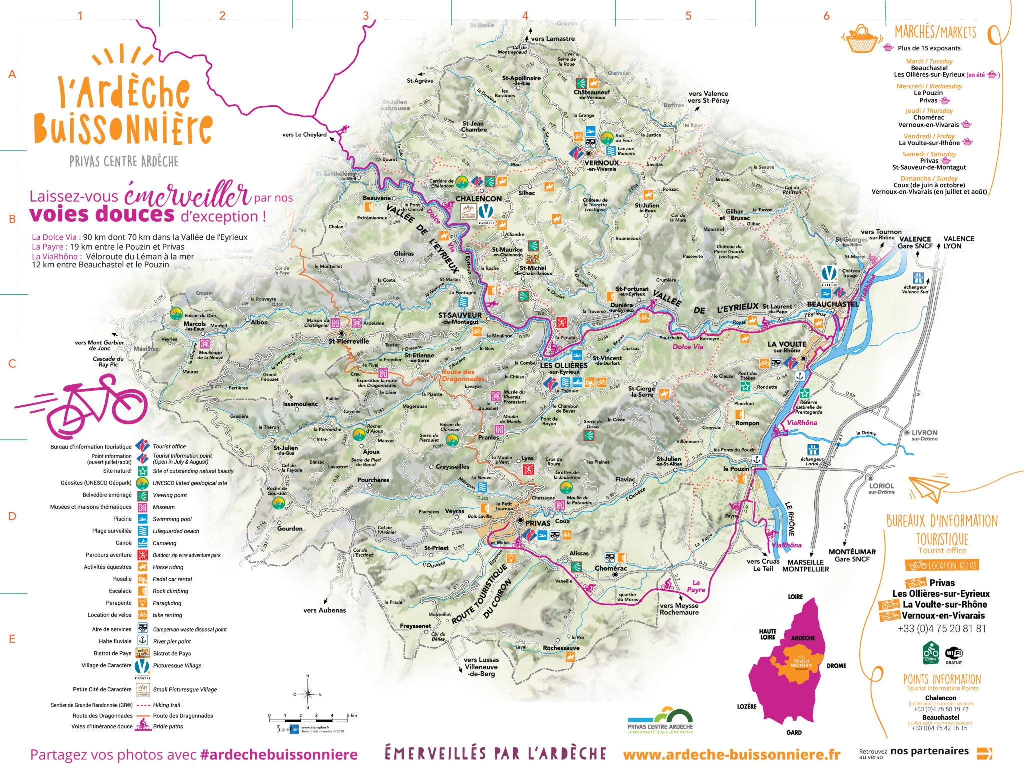 Carte touristique 2020
