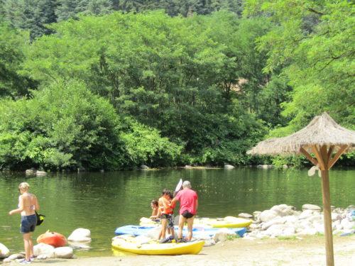 Vacances - rivière - canoë - Ardèche