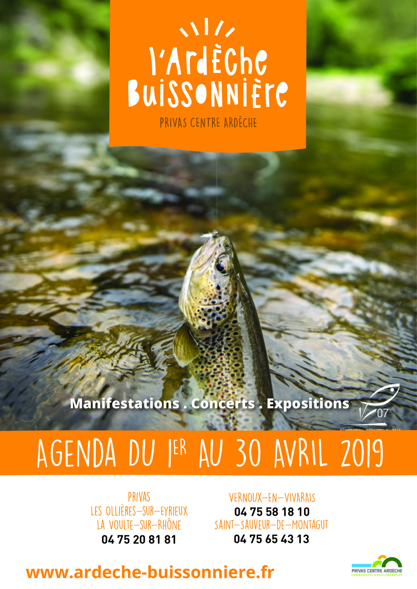 April 2019 events agenda - Ardèche Buissonnière