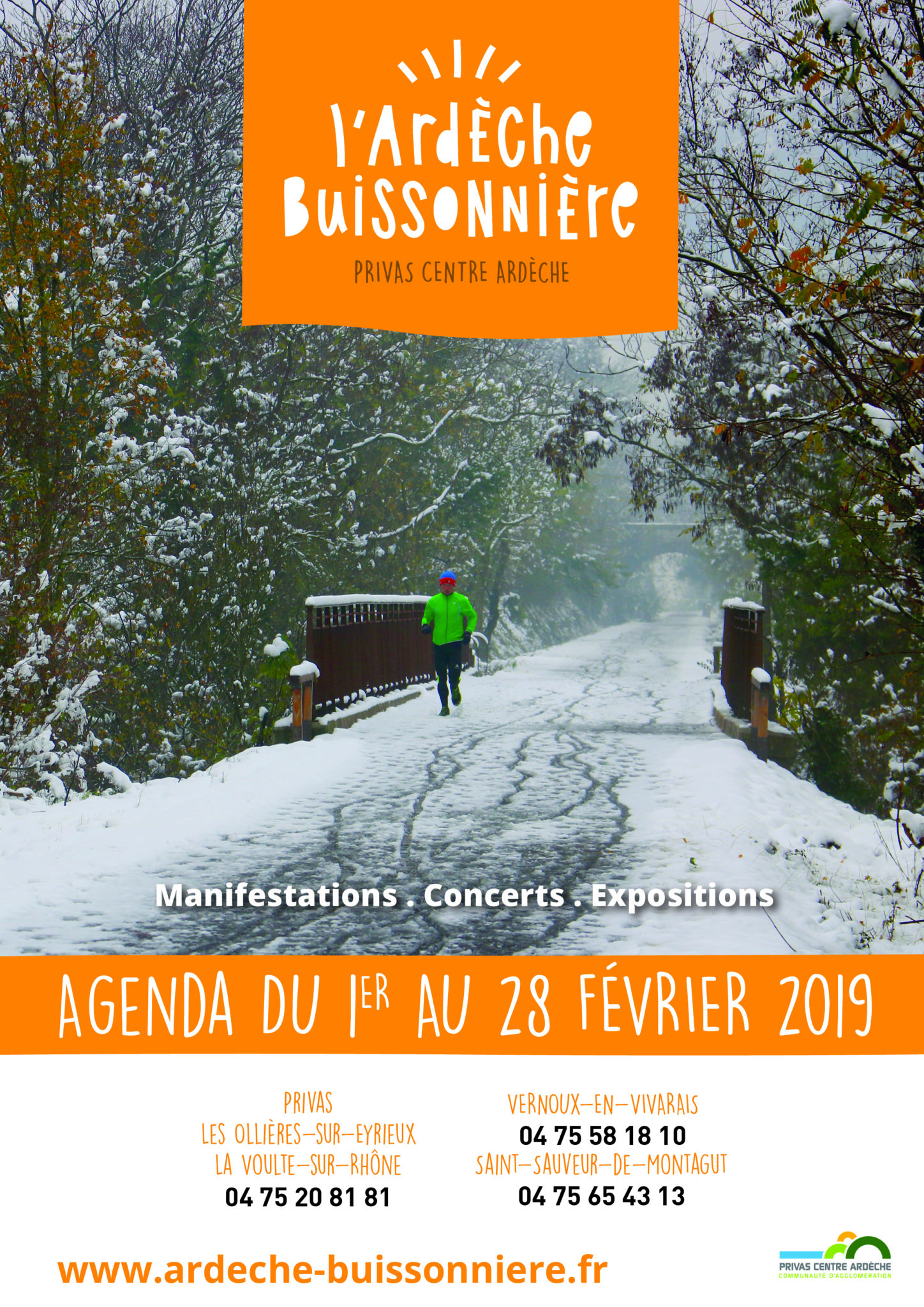 February 2019 events agenda - Ardèche Buissonnière