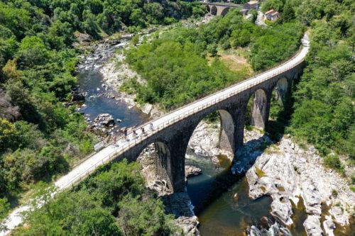 Voie verte Dolce Via en Ardèche