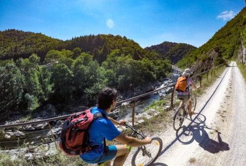 Vacances le long de la Dolce Via et à vélo