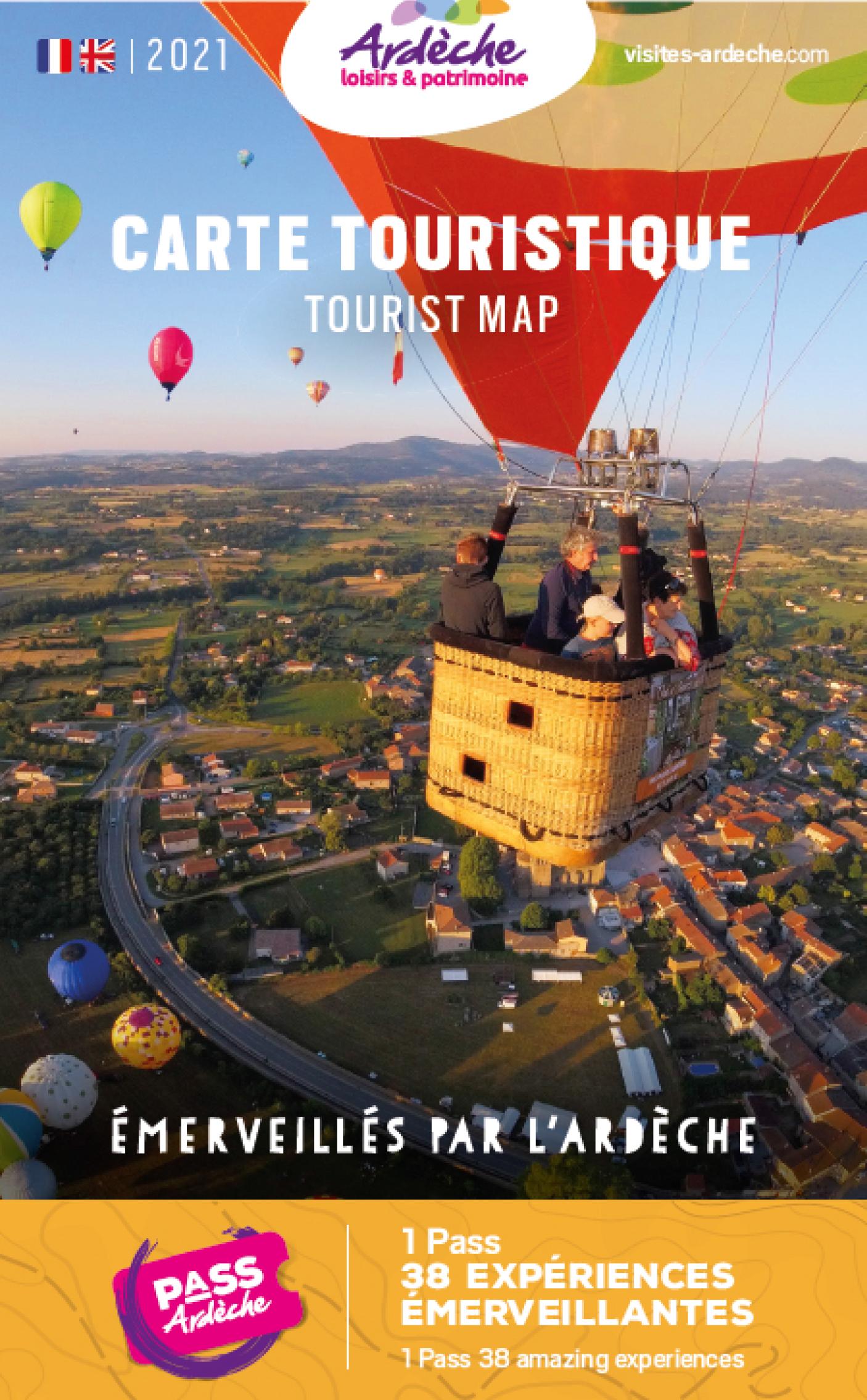 Carte touristique de l'Ardèche